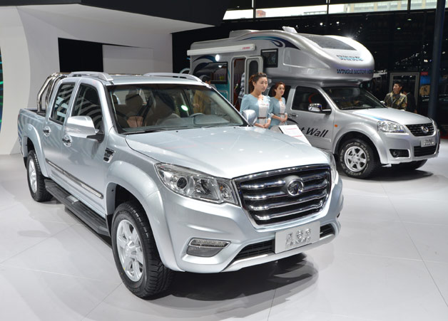 Motor Co. display at 2013 Shanghai Motor Show with pickup and camper
