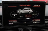 2013 Audi RS6 Avant drive select display