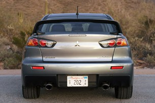 2013 Mitsubishi Lancer Evolution X GSR rear view