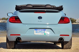2013 Volkswagen Beetle Turbo Convertible rear view