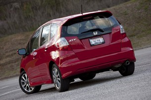 2013 Honda Fit Sport rear 3/4 view