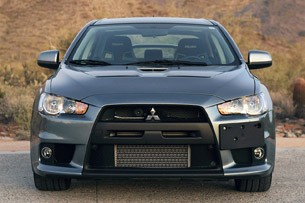 2013 Mitsubishi Lancer Evolution X GSR front view