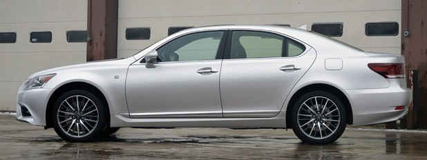 2013 Lexus LS460 F-Sport AWD side view