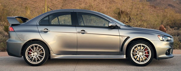 2013 Mitsubishi Lancer Evolution X GSR side view