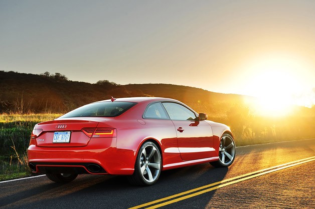 2013 Audi RS5 rear 3/4 view