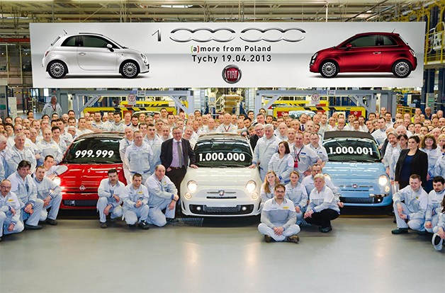 Fiat builds 1 millionth 500, still the ways to go prior to flitting original