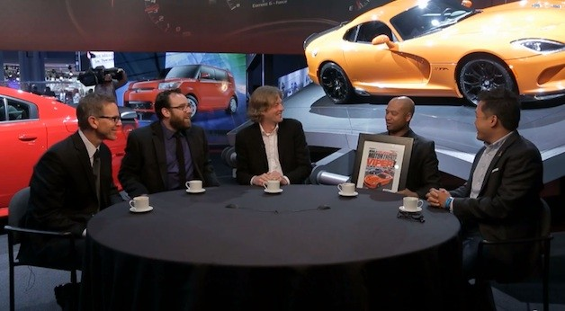 Ralph Gilles with Motor Trend staff