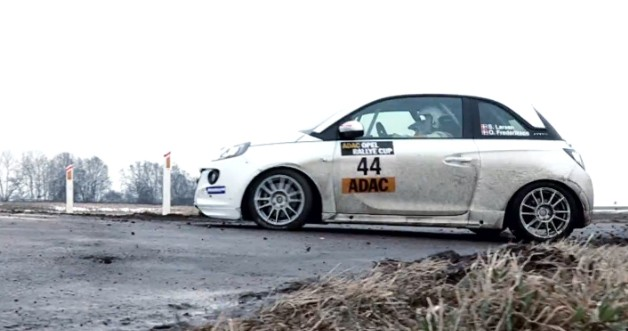 Rally for girl with footage of a Opel Adam Rallye Cup Car