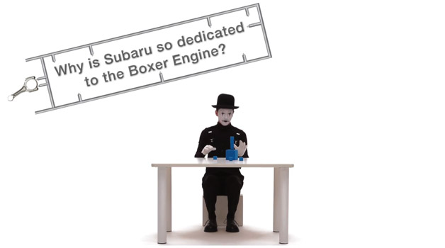Subaru uses a mime as well as a fondle automobile to insist because it loves a fighter engine