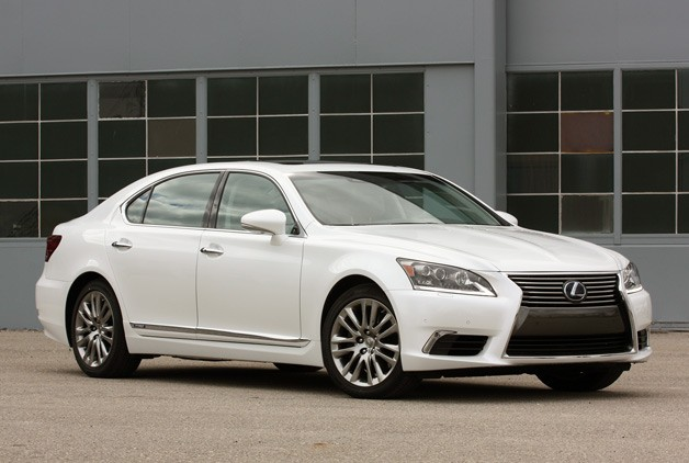 2013 Lexus LS 600h L - front three-quarter view