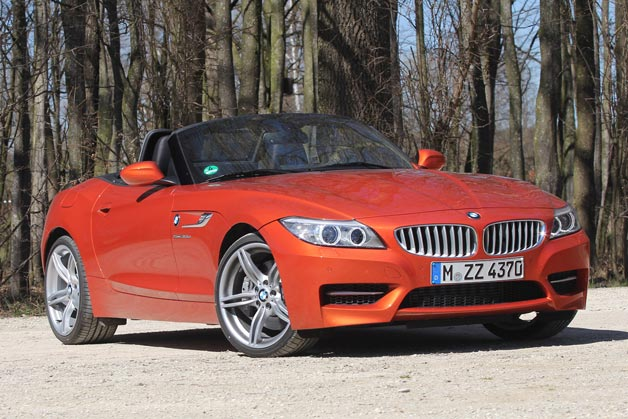 2014 BMW Z4 sDrive35is - front three-quarter view, top down