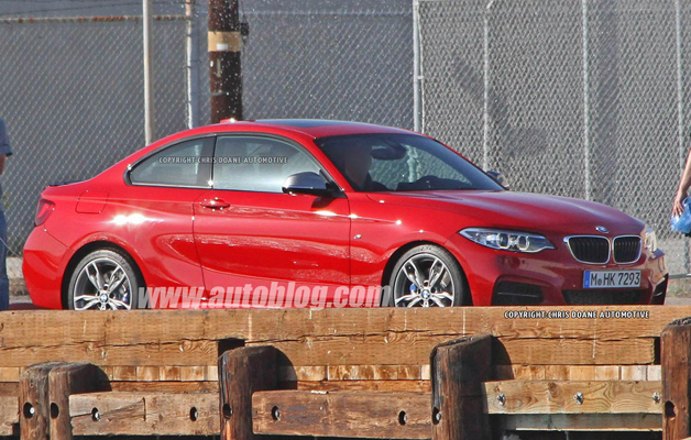 BMW M235i spy shots - caught uncovered during photo shoot