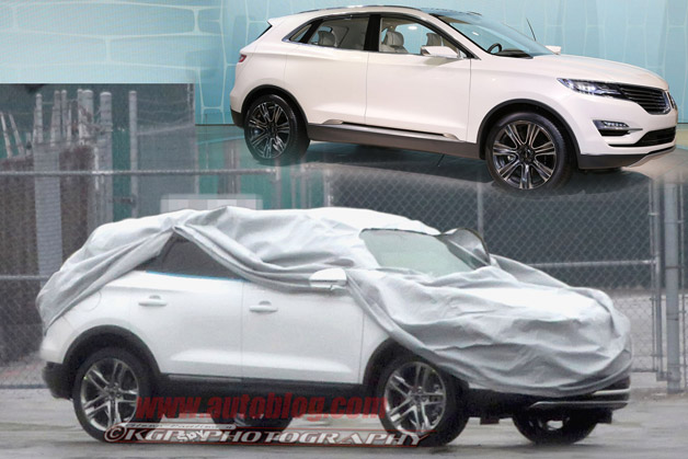Lincoln MKC prototype caught partially covered, reveals some changes