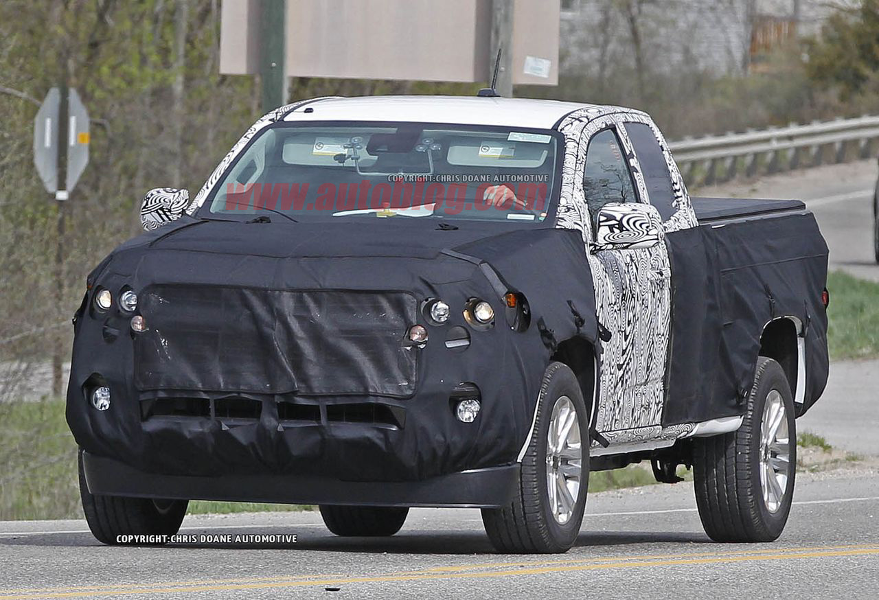 2014 chevrolet colorado spy shots photos