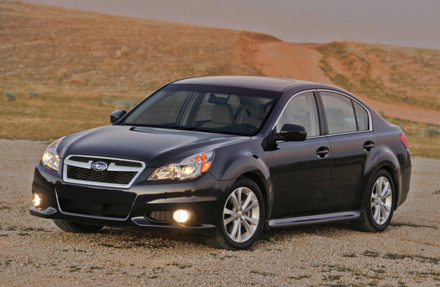 2013 Subaru Legacy sedan - front three-quarter view