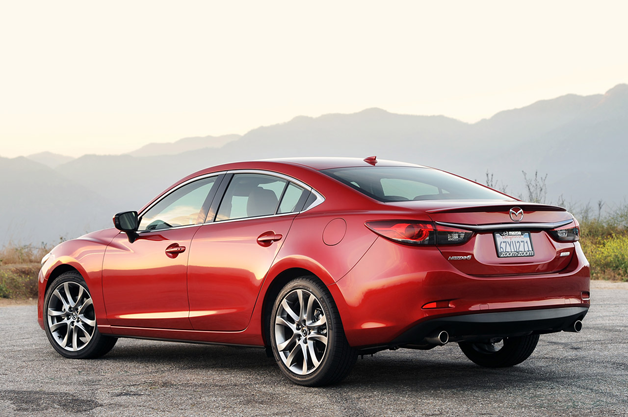 2014 Mazda6 rear three-quarter