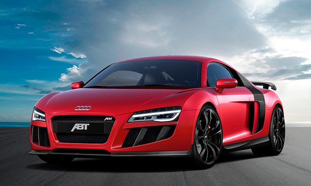 ABT-tuned Audi R8 V10 - front three-quarter view, red
