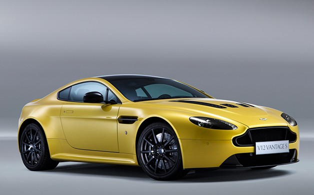 Aston Martin V12 Vantage S in yellow - front three-quarter view
