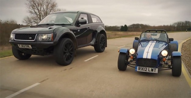 Bowler EXR S vs Caterham Seven Supersport in spectacularly bizarre track battle