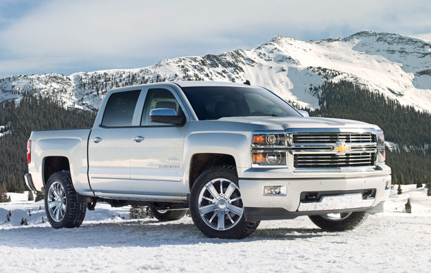 ​2014 Chevy Silverado High Country - front three-quarter view