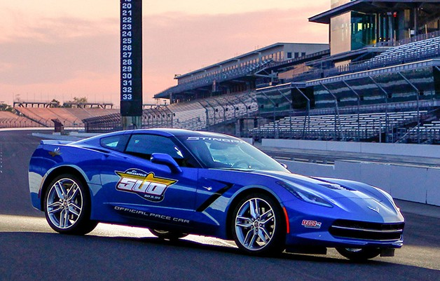 Indy 500 Corvette C7 pace car - front three-quarter view