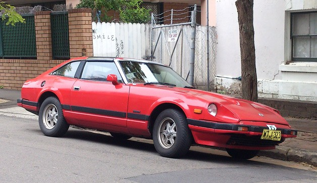 1981-1983 Datsun 280ZX Turbo - front three-quarter view, red