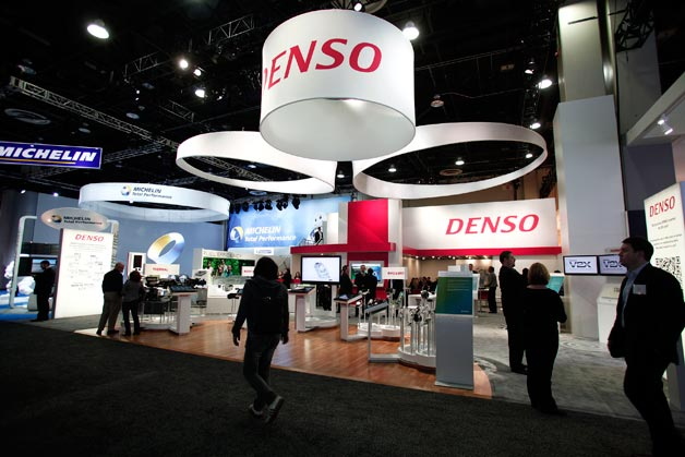 Denso display at auto show