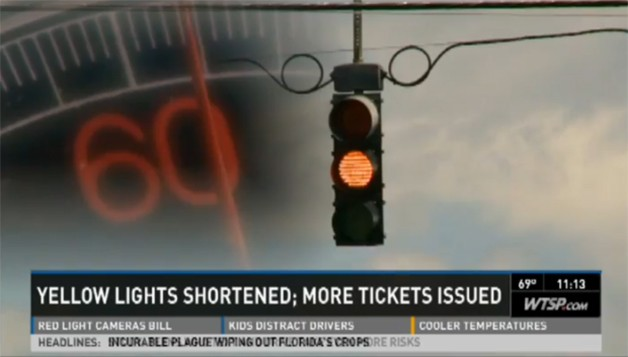 Florida DOT quietly changed yellow-light standards, municipalities issuing more tickets