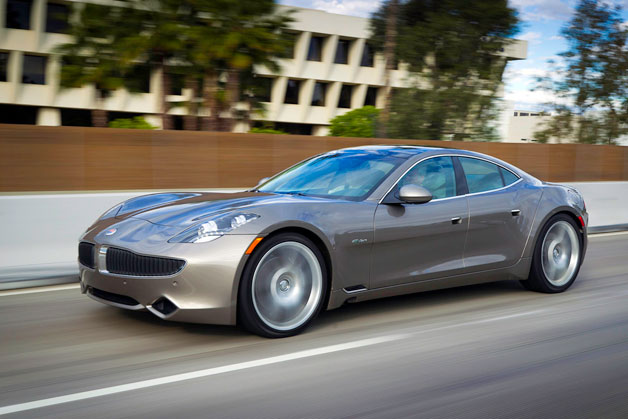 Fisker Karma in motion