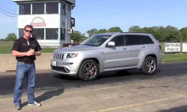 650-hp Jeep Grand Cherokee SRT8 from Hennessey ready to go drag racing - video screencap