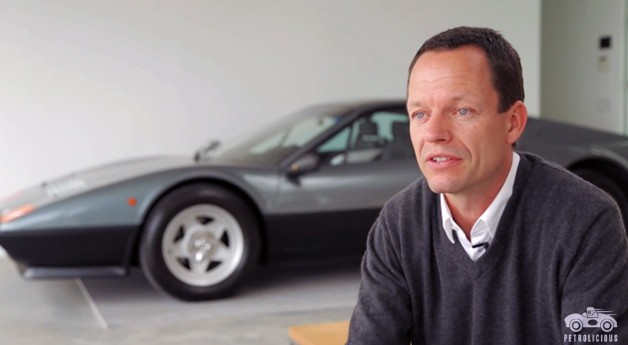 Holger Schubert and his Ferrari garage - Petrolicious video screencap