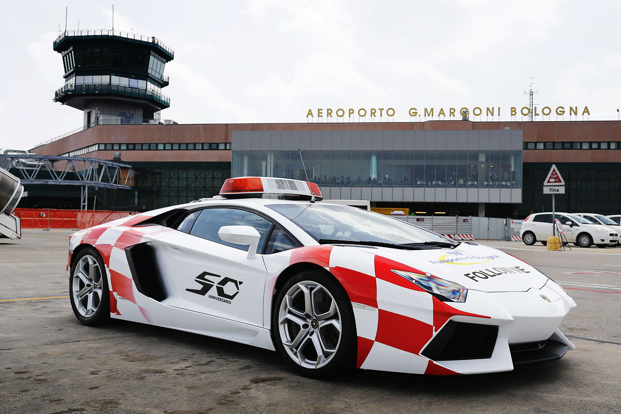 Lamborghini Aventador Reports For Taxi Duty At Bologna
