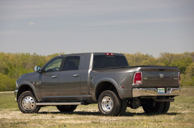 2013 Ram 3500 HD rear 3/4 view