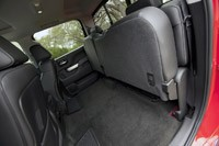 2014 Chevrolet Silverado folded rear seats
