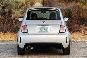 2013 Fiat 500 Turbo rear view