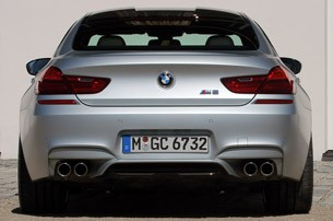 2014 BMW M6 Gran Coupe Rear View