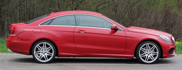 2014 Mercedes-Benz E-Class Coupe side view ...