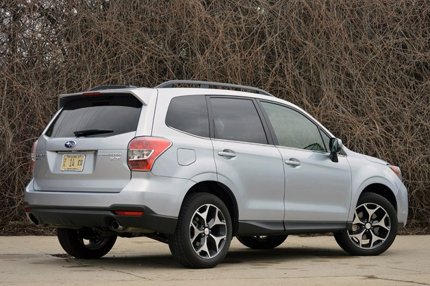 2014 Subaru Forester XT rear 3/4 view