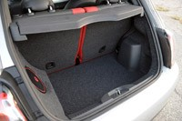 2013 Fiat 500 Turbo rear cargo area