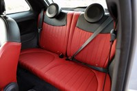 2013 Fiat 500 Turbo rear seats