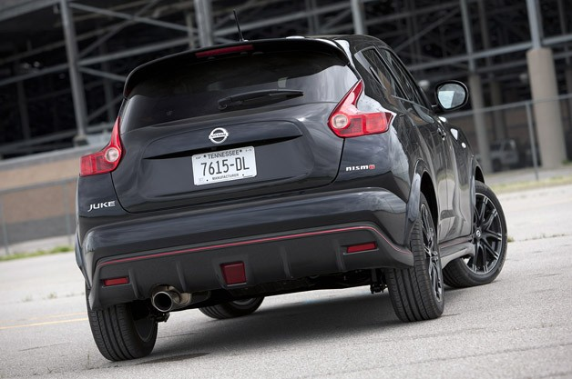 2013 Nissan Juke Nismo rear 3/4 view