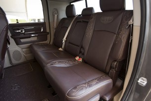 2013 Ram 3500 HD rear seats