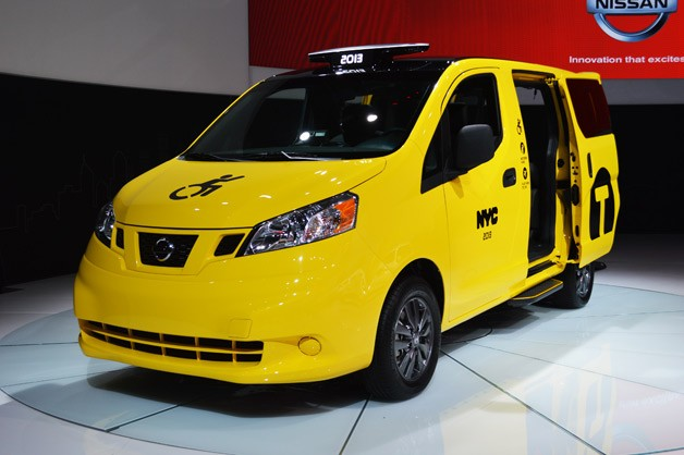 Nissan NV200 taxi - front three-quarter view
