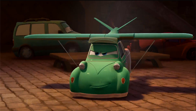Flying car spotted in Pixar's Planes trailer