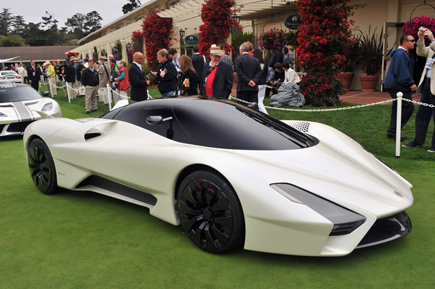 Tuatara SSC on the lawn at Pebble Beach