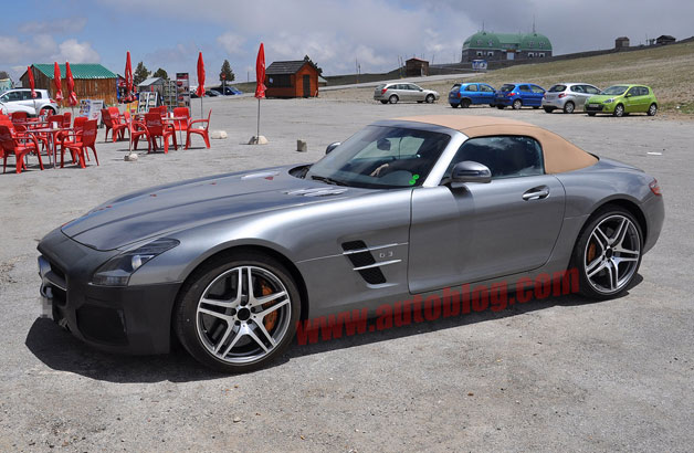 Mercedes-Benz SLS AMG GT Roadster spy shots - front three-quarter view
