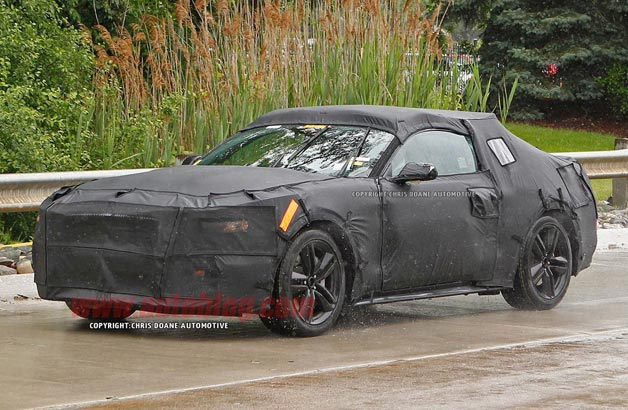 2015 Ford Mustang prototype - front three-quarter view, disguised