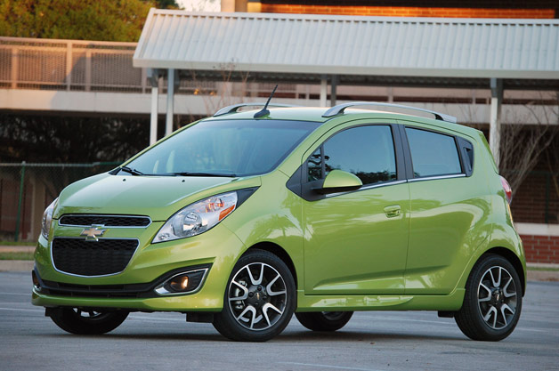 2013 Chevrolet Spark  - front three-quarter view, Jalapeno Green
