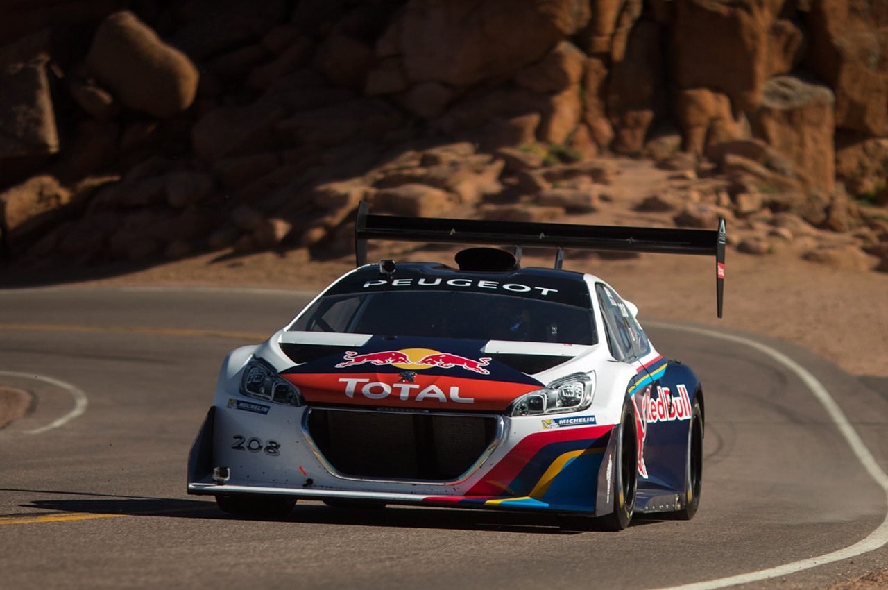 sebastien loeb demolishes pikes peak record with an 8 update w video autoblog. Black Bedroom Furniture Sets. Home Design Ideas