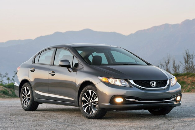 2013 Honda Civic - front three-quarter view with mountains